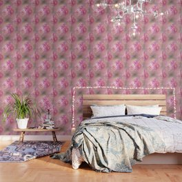 Baroque Painted Roses Wallpaper