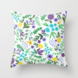 Lavender and Lemons Throw Pillow