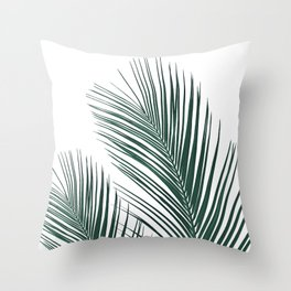 Tropical Palm Leaves #2 #botanical #decor #art #society6 Throw Pillow
