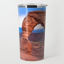 Delicate - Delicate Arch Glows on Rainy Day in Utah Desert Travel Mug