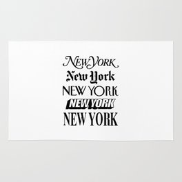 I Heart New York City Black and White New York Poster I Love NYC Design black-white home wall decor Rug