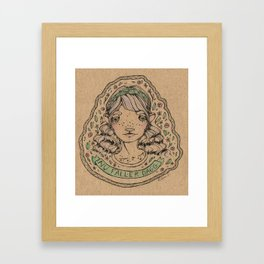 Nu faller dagg Framed Art Print