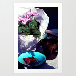 Time for a coffee and chocolate truffle Art Print