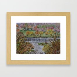 Root River Dam in Lanesboro, Minnesota Framed Art Print