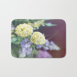Garden blured flowers Bath Mat