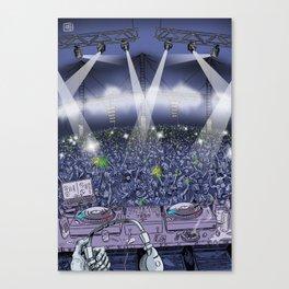 Old Skool DJ Canvas Print
