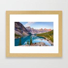Twin Peak Lake Framed Art Print