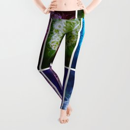 Closing Queen Anne's Lace Collage (Horizontal) Leggings