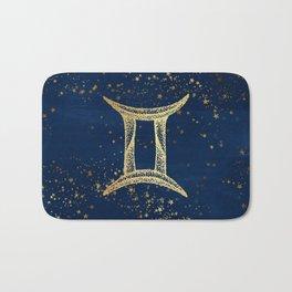 Gemini Zodiac Sign Bath Mat