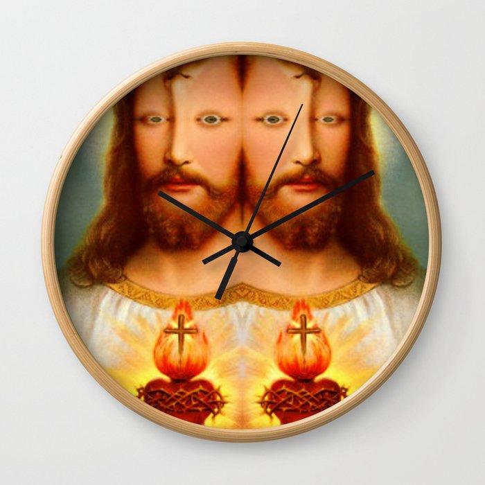 Lysergic Christ Wall Clock