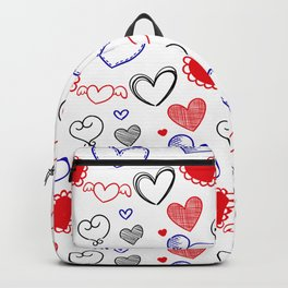 Draw hearts Backpack