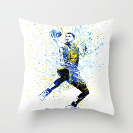 Warriors Curry Throw Pillow