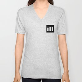 simple is ill WH Unisex V-Neck