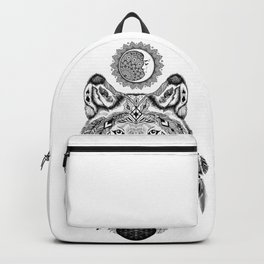 Bohemian Celestial Wolf Backpack