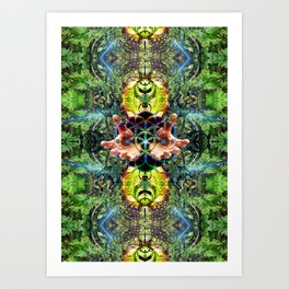 Fraktal Jungle Art Print