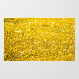 Yellow Daisies in the Field Rug