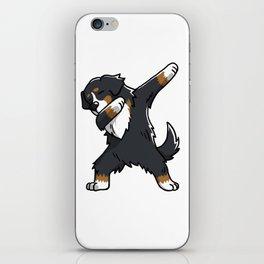 Funny Bernese Mountain Dog Dabbing iPhone Skin