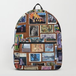 Wooden Postcard Wall Backpack