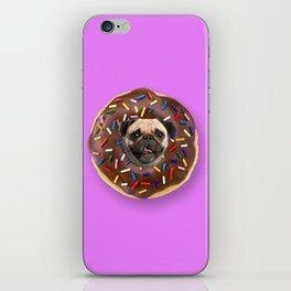 Pug Chocolate Donut iPhone Skin