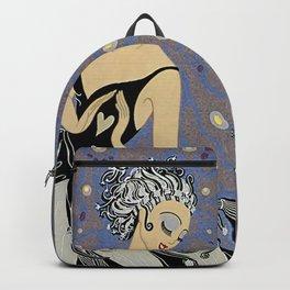 """Art Deco Illustration """"Tuxedo"""" Backpack"""