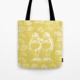 Tweedledum, Tweedledee and Caps Tote Bag