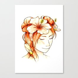 Tenten & Hibiscus Canvas Print