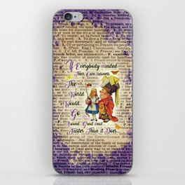 Alice with The Duchess Vintage Dictionary Art iPhone Skin