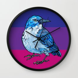 L'il Lard Butt Graphic Scrub Jay Wall Clock