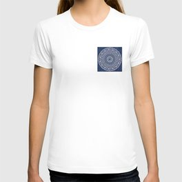 Blue and White Mandala - LaurensColour T-shirt