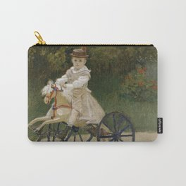 Jean Monet on his Hobby Horse Carry-All Pouch
