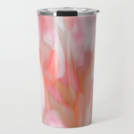 Pink Tulips Abstract Nature Spring Atmosphere Travel Mug