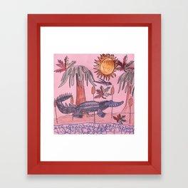 Swamp Hunt Framed Art Print