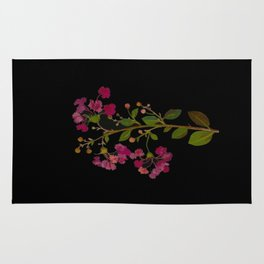Lagerstroemia Indica Mary Delany British Botanical Paper Flower Collage Delicate Flowers Rug