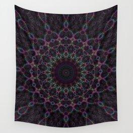 Branching Rainbow Fractal Kaleidoscope Wall Tapestry