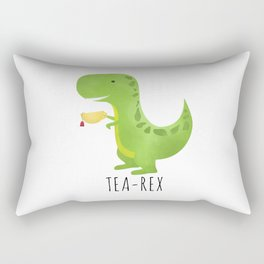 Tea-Rex Rectangular Pillow