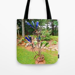 Glass and Steel Garden Art Tote Bag