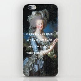 In Love with Being Queen of France iPhone Skin