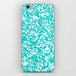 Small Spots - White and Cyan iPhone Skin