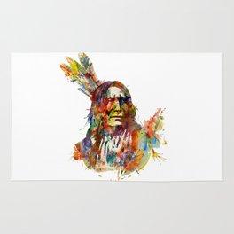 Chief Mojo Watercolor Rug