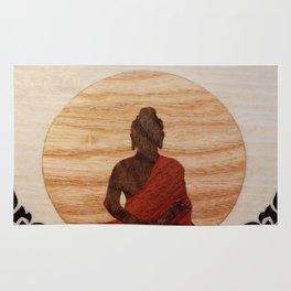 Buddha marquetry Rug