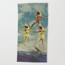 On Evil Beach - Sharks Beach Towel