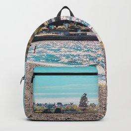 I see an island. Backpack