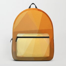 Shades Of Orange Triangle Abstract Backpack