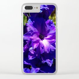 Purple Larkspur Clear iPhone Case
