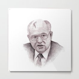 Mikhail Gorbachev Metal Print