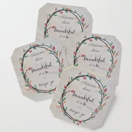 Autumn shows us how beautiful it is to let things go quote Coaster