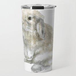 Lop Rabbit Watercolor Painting Bunny Travel Mug