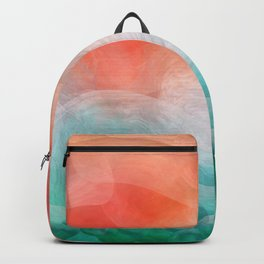 """Coral sand beach and tropical turquoise sea"" Backpack"