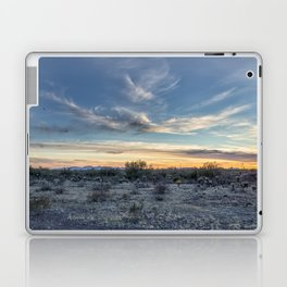 Sunset with Hot Air Balloons in the Distance Outside Phoenix Laptop & iPad Skin