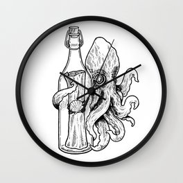 Octopus Bottle Wall Clock